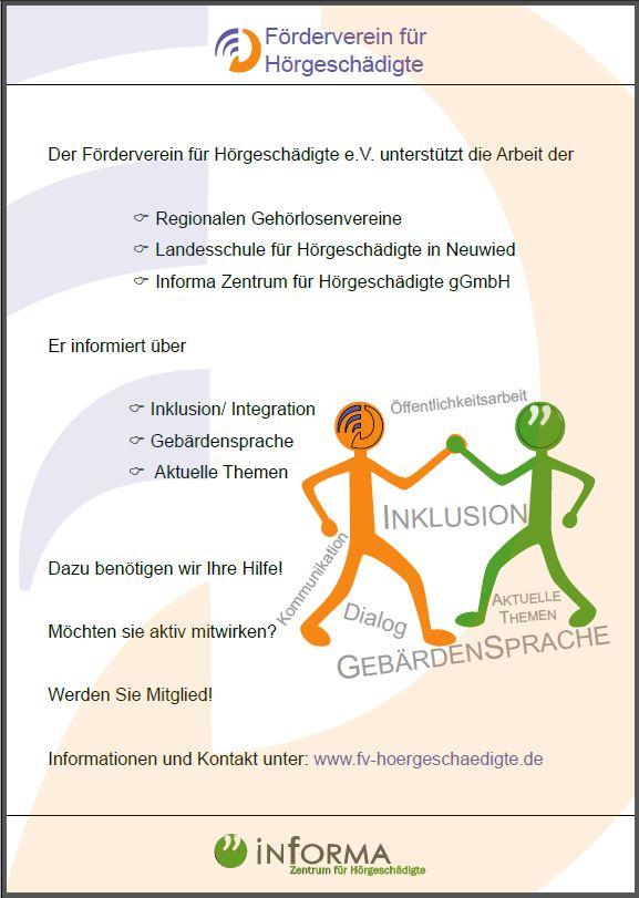 Förderverein-Plakat